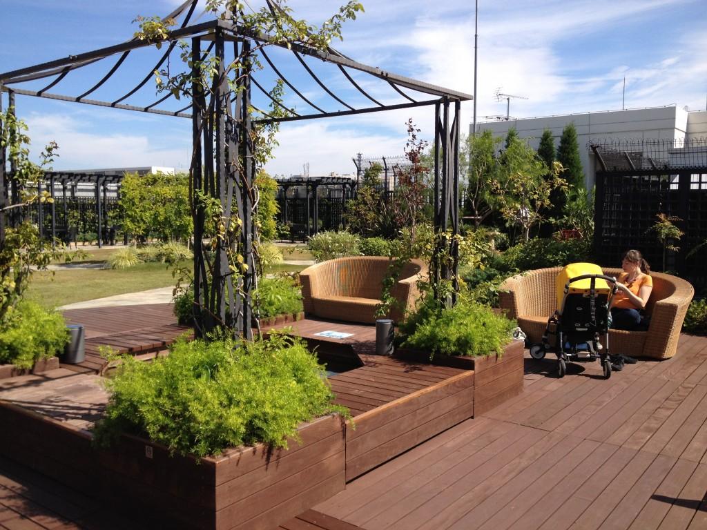 Marui Shinjuku baby-friendly rooftop garden in Tokyo