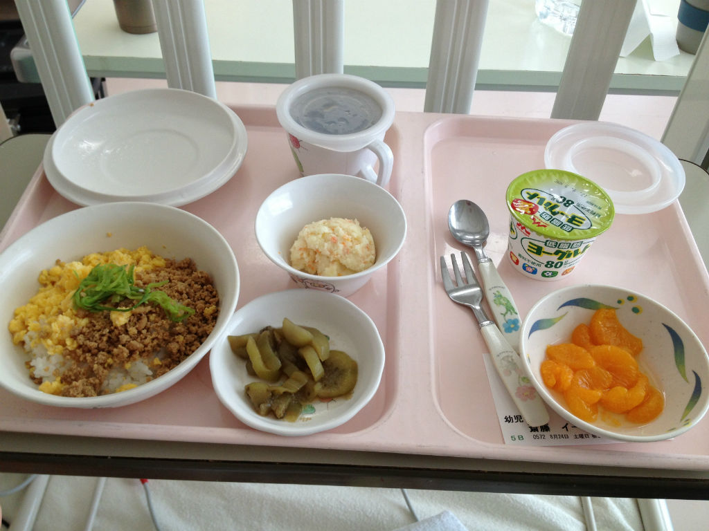 Baby food (for toddlers) in the Japanese hospital