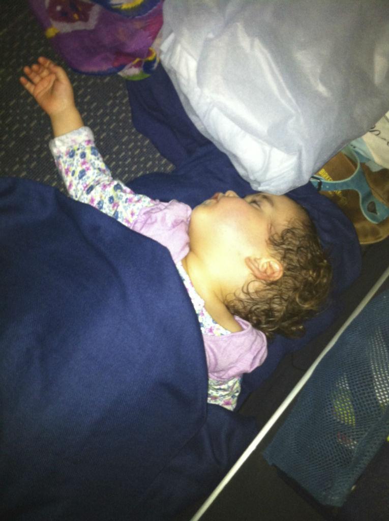 Plane Sleeping Photo