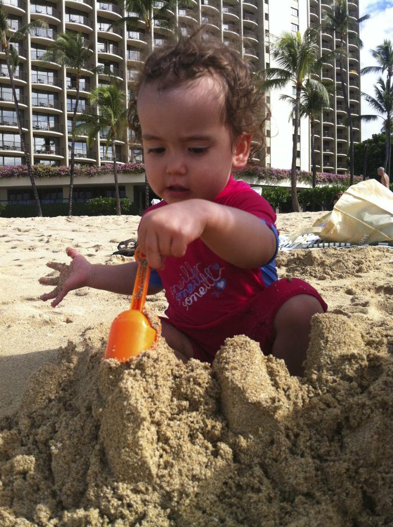 Playing on Beach 2
