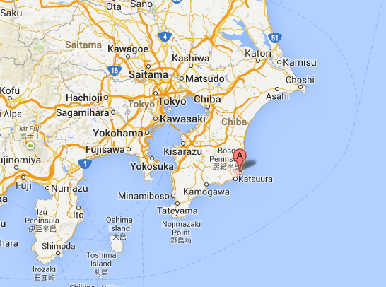 "Location of ""Ochi Organic Farm"" (Chiba), which supplies Takanashi Organic Milk"