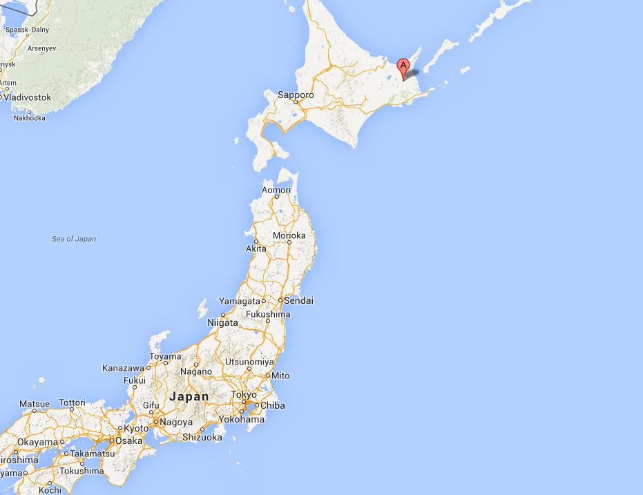 "Location of Yamamoto Farm in Hokkaido, producer of ""Wild Milk"""