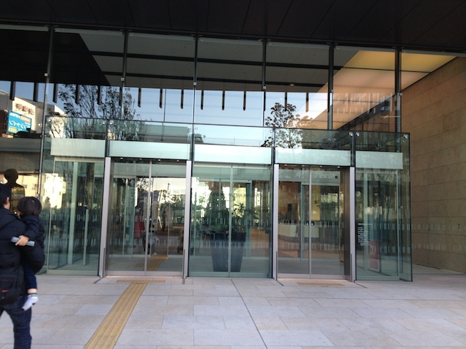 Entrance to building for Hara Model Train Museum (2F)