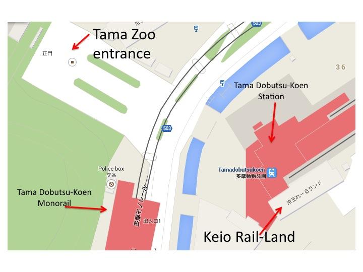 Tama Zoo map
