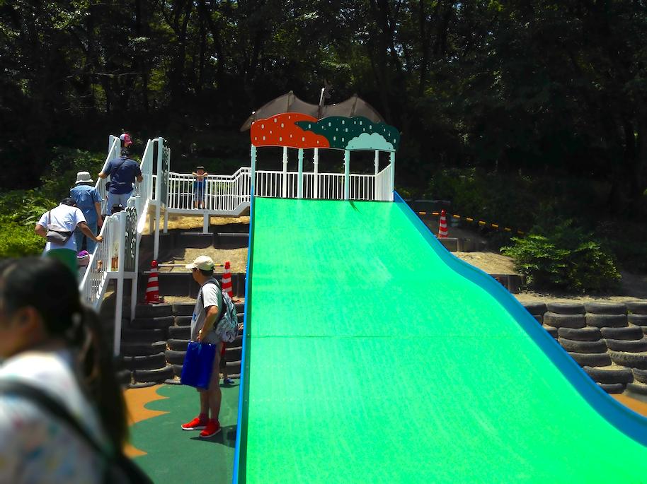 Big green slippery slide