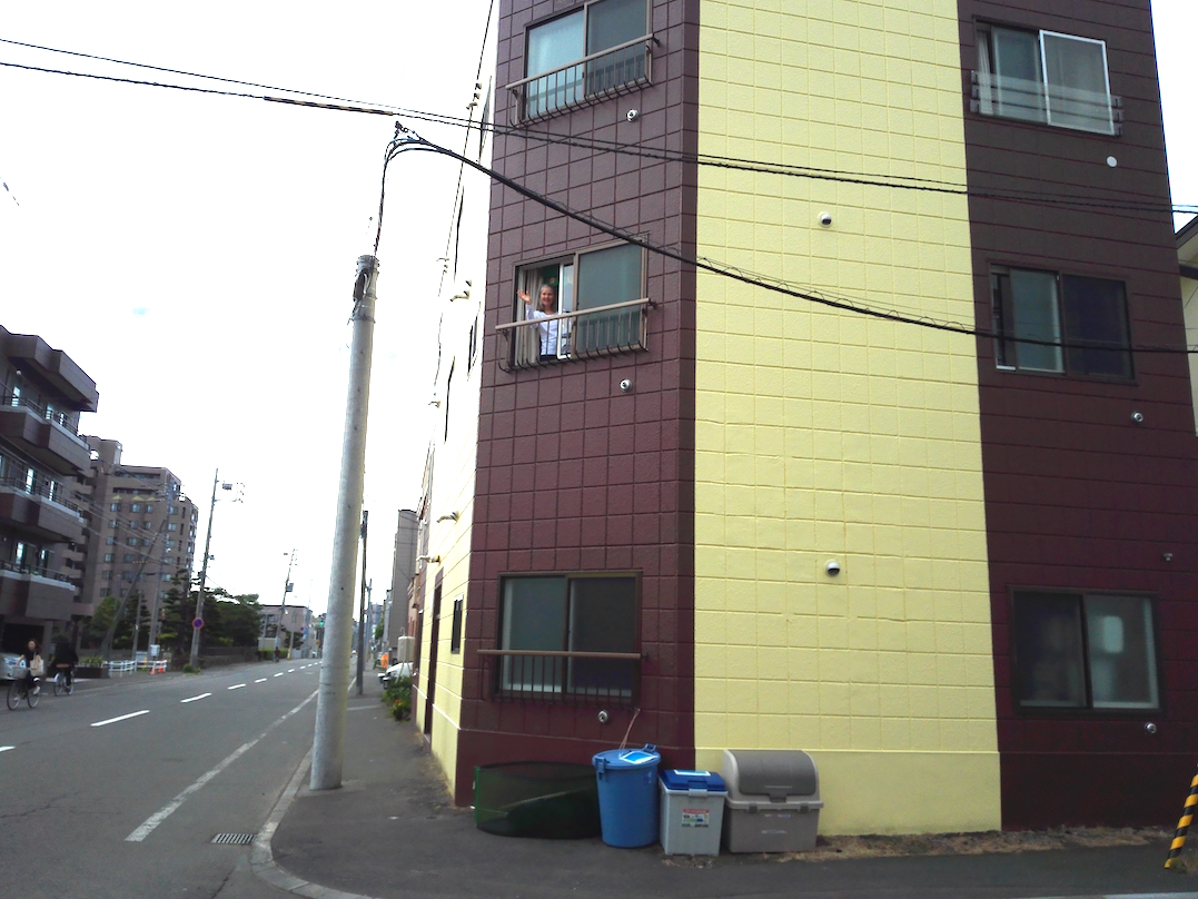 This is the outside of the apartment. It was about 15min drive from Sapporo station in a quiet neighborhood. There was also a playground nearby where we went with the kids.