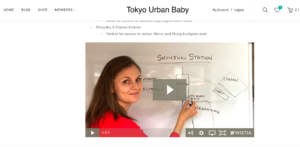 Tokyo Urban Baby Travel Guide tutorial videos