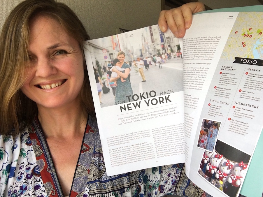 Kate Neath interview in Lunamum magazine about traveling in Tokyo with a baby