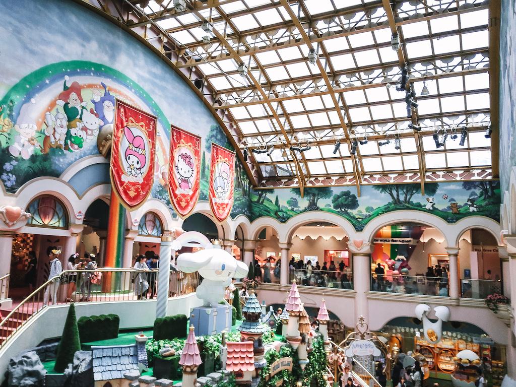 Sanrio Puroland inside the entrance