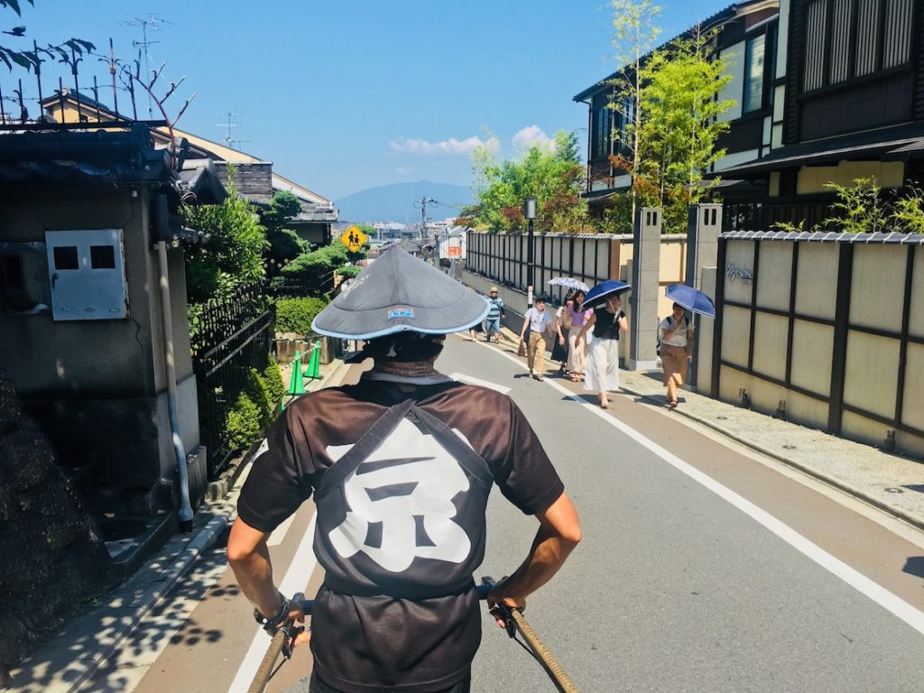 Kyoto Kiyomizudera Rickshaw with kids