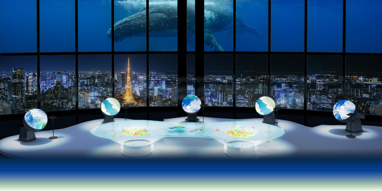 Tokyo City View tangible earth exhibition