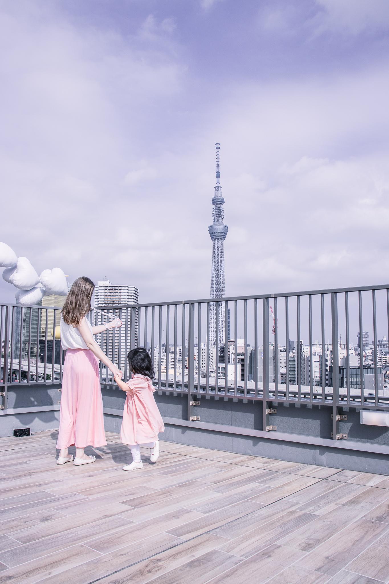 Hotel Amanek Asakusa Ekimae rooftop terrace Tokyo skytree view