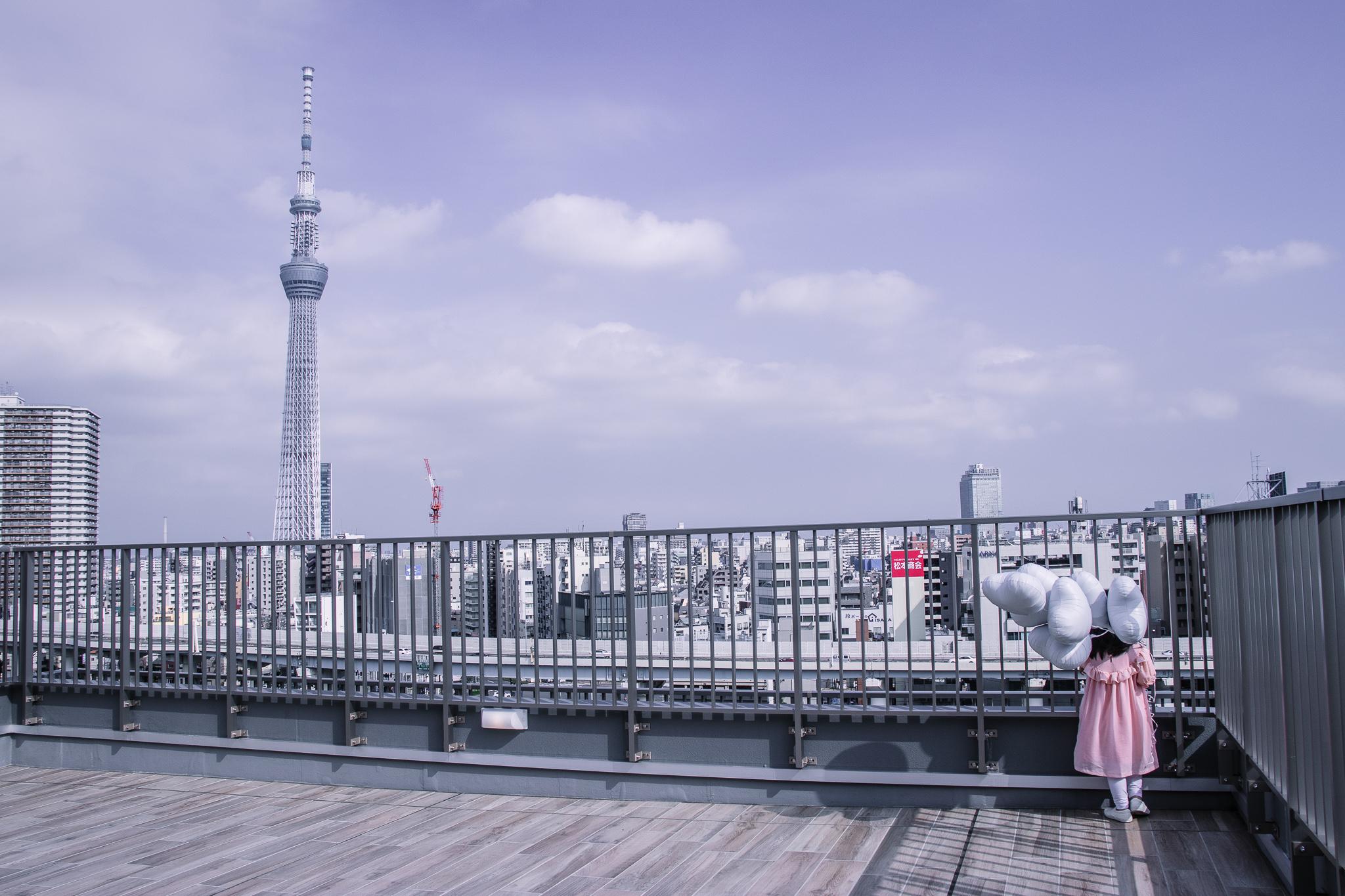 Hotel Amanek Asakusa Ekimae rooftop terrace