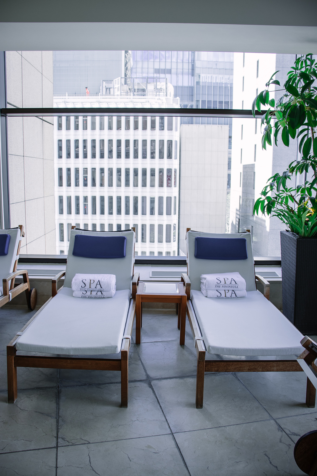 Peninsula Tokyo Hotel poolside chairs