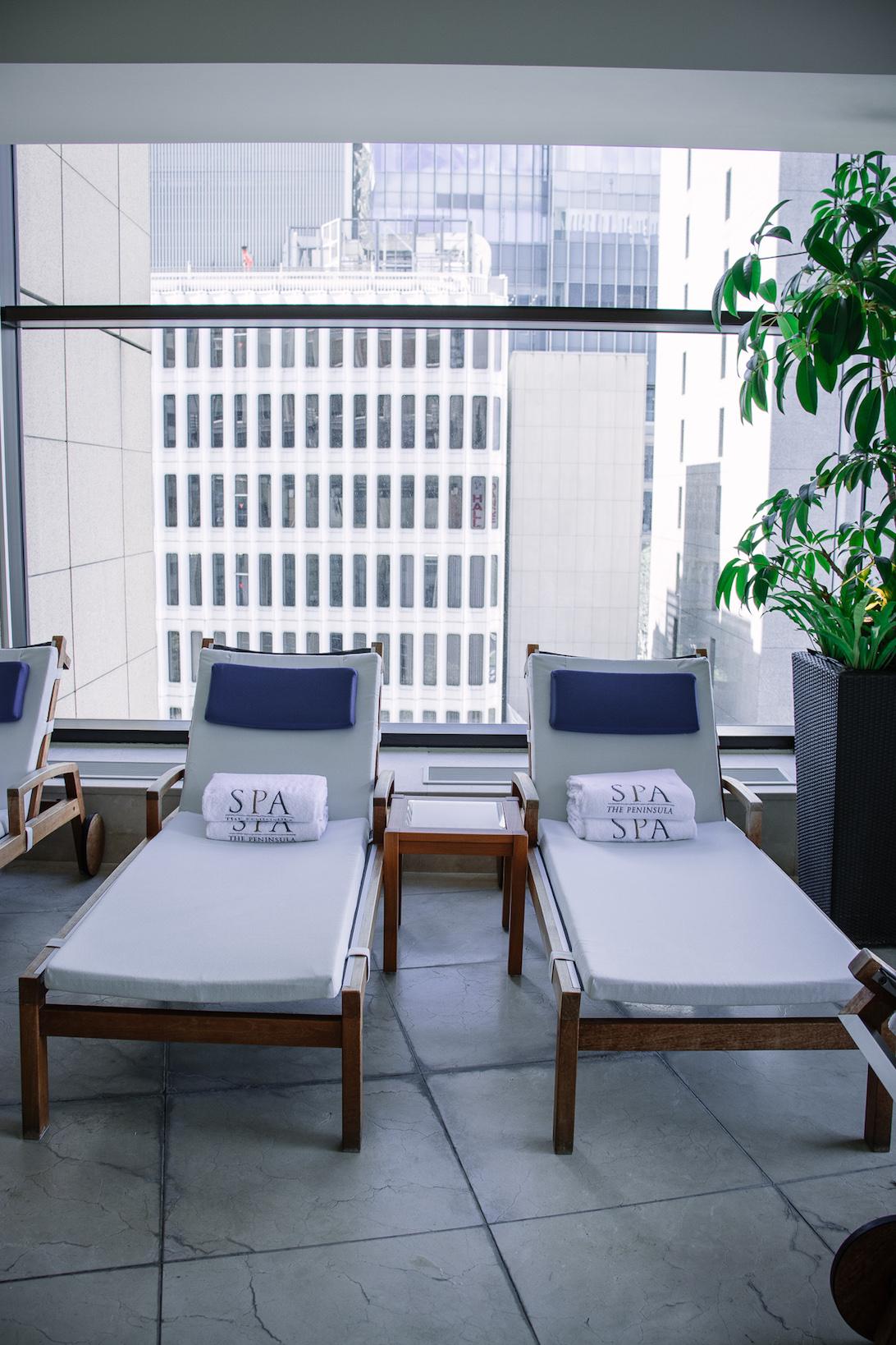 Peninsula Tokyo Hotel poolside chairs