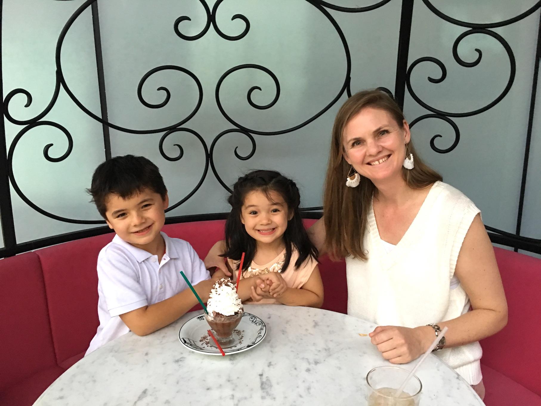 Serendity 3 child-friendly restaurant, Omotensando Tokyo frozen hot chocolate