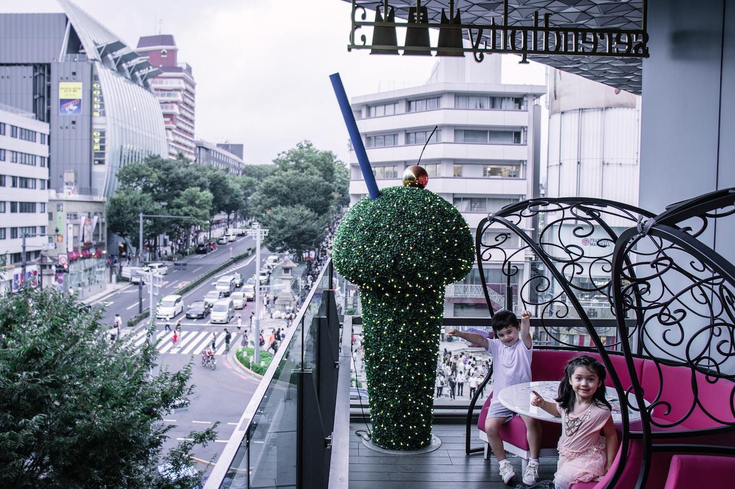 Serendity 3 child-friendly restaurant, Omotensando Tokyo outside terrace