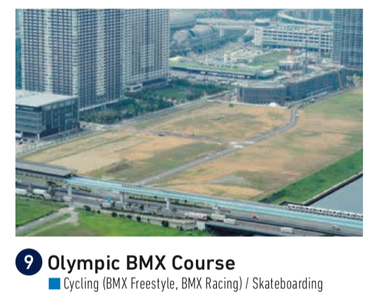 Tokyo Olympics BMX Course for skateboarding