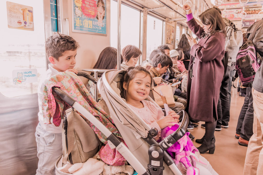 Tokyo train tips with kids and stroller Japan