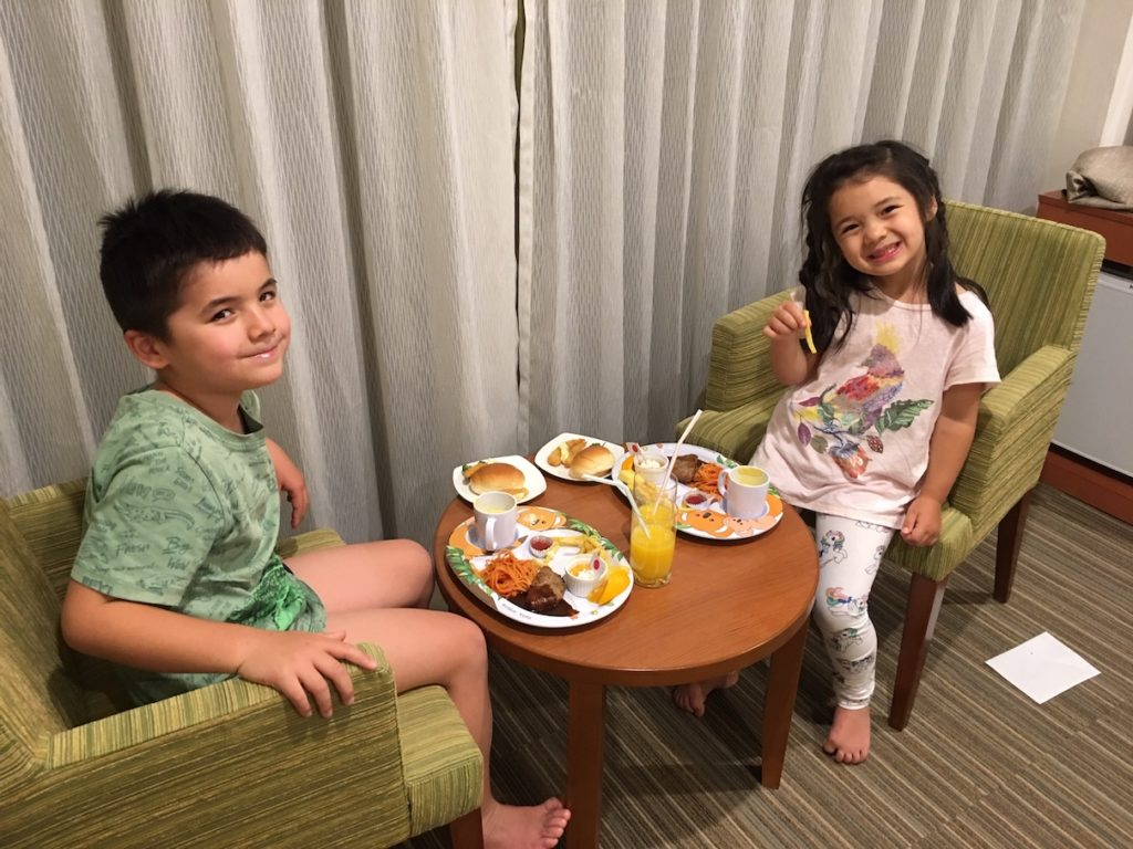 Tobu Narita Airport hotel kids meals