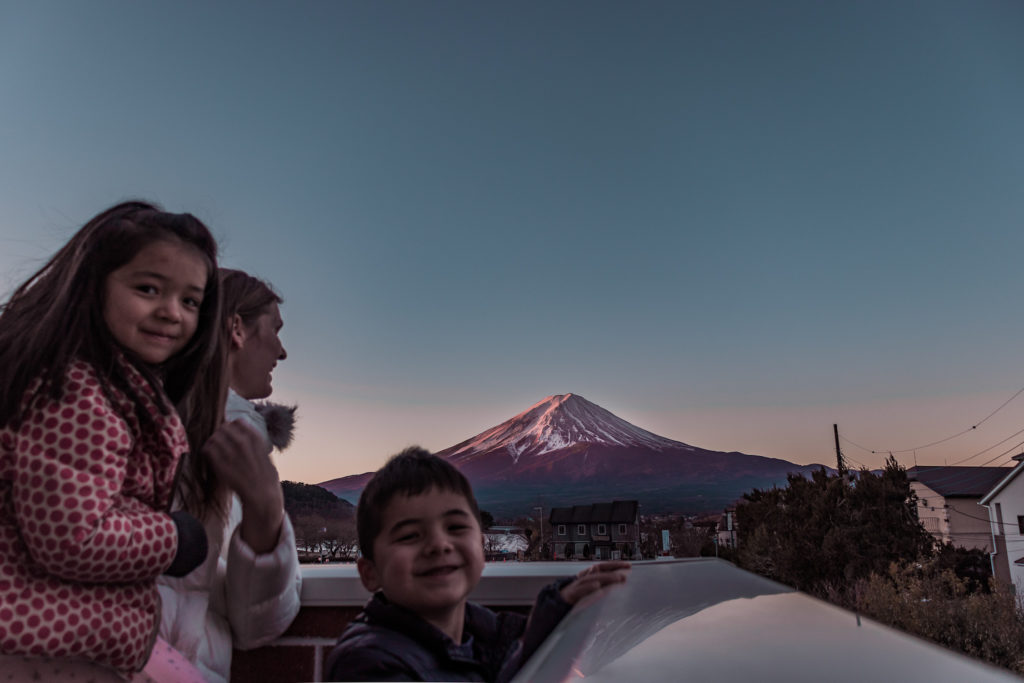 Mt Fuji kid-friendly hotel with balcony view