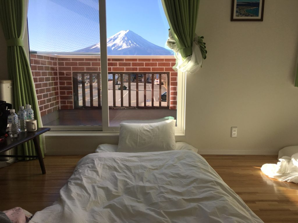 Mt Fuji view cottage with futon bed