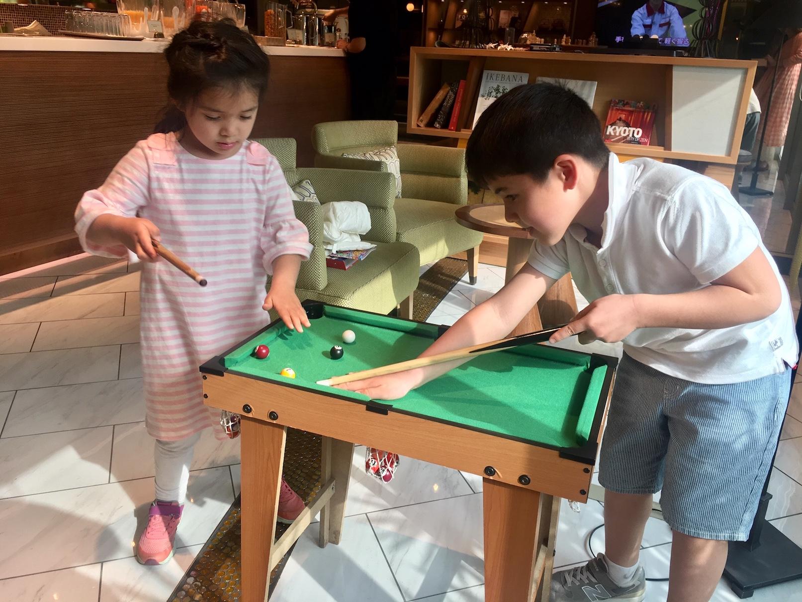 Kyoto Tower Annex Hotel - billiard playing