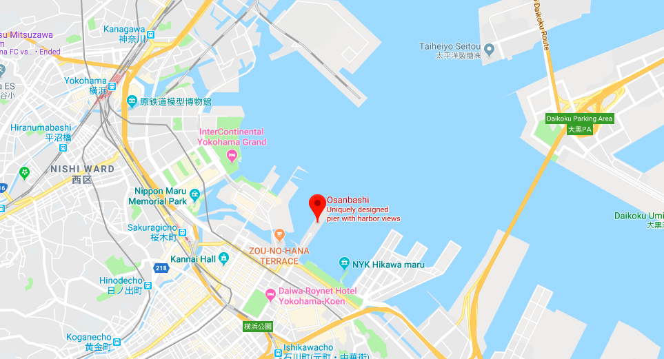 Yokohama port map