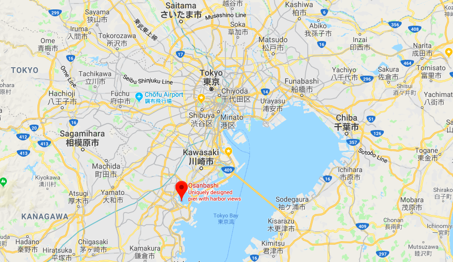 Yokohama port, 30min from Tokyo