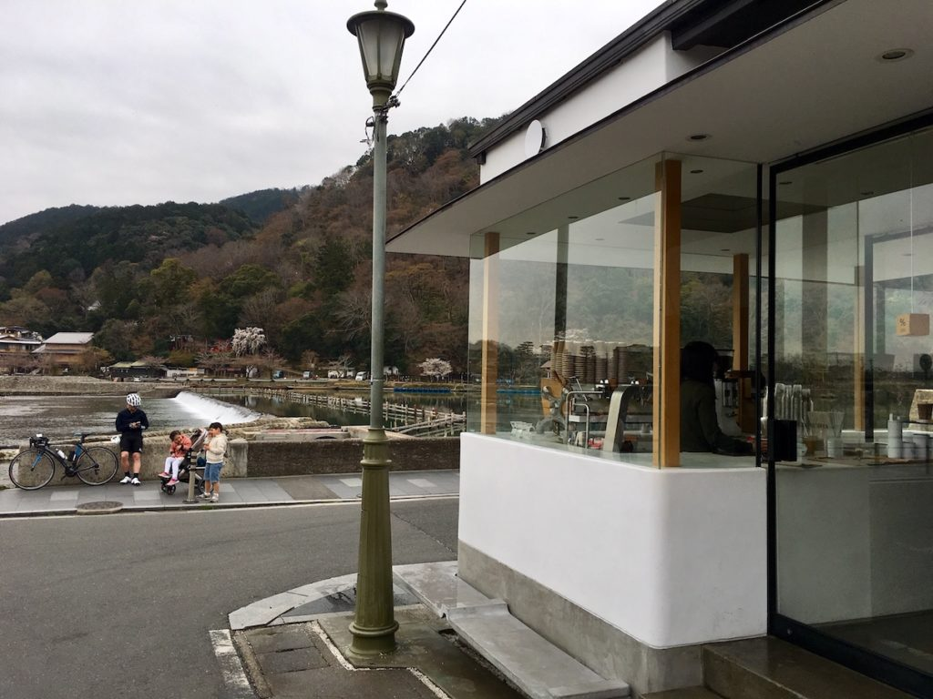 Arashiyama river coffee shop cafe