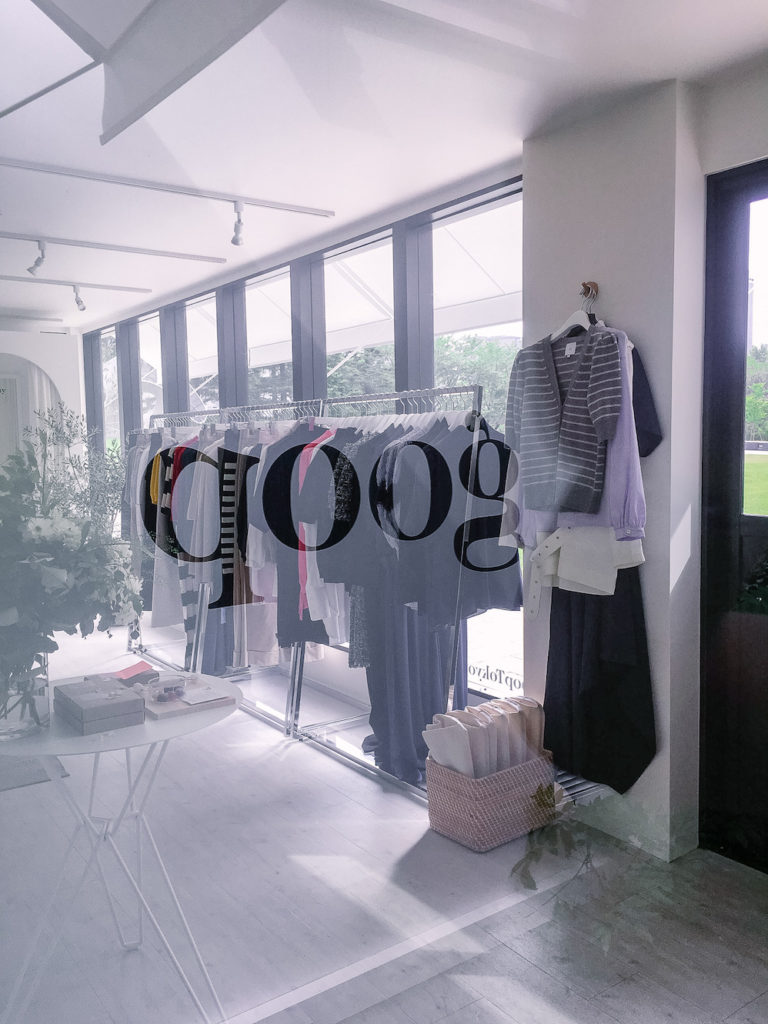 goop Japan pop-up shop and cafe in Tokyo Midtown clothing