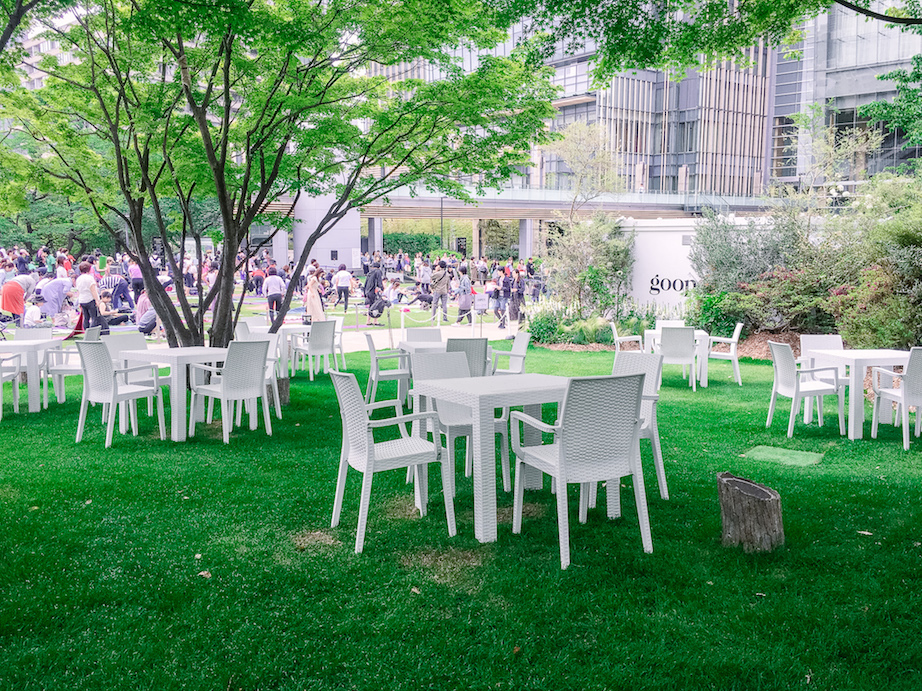 goop Japan pop-up shop and cafe in Tokyo Midtown garden