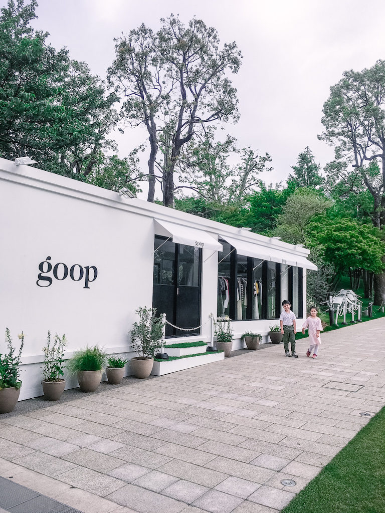 goop Japan pop-up shop and cafe in Tokyo Midtown outside