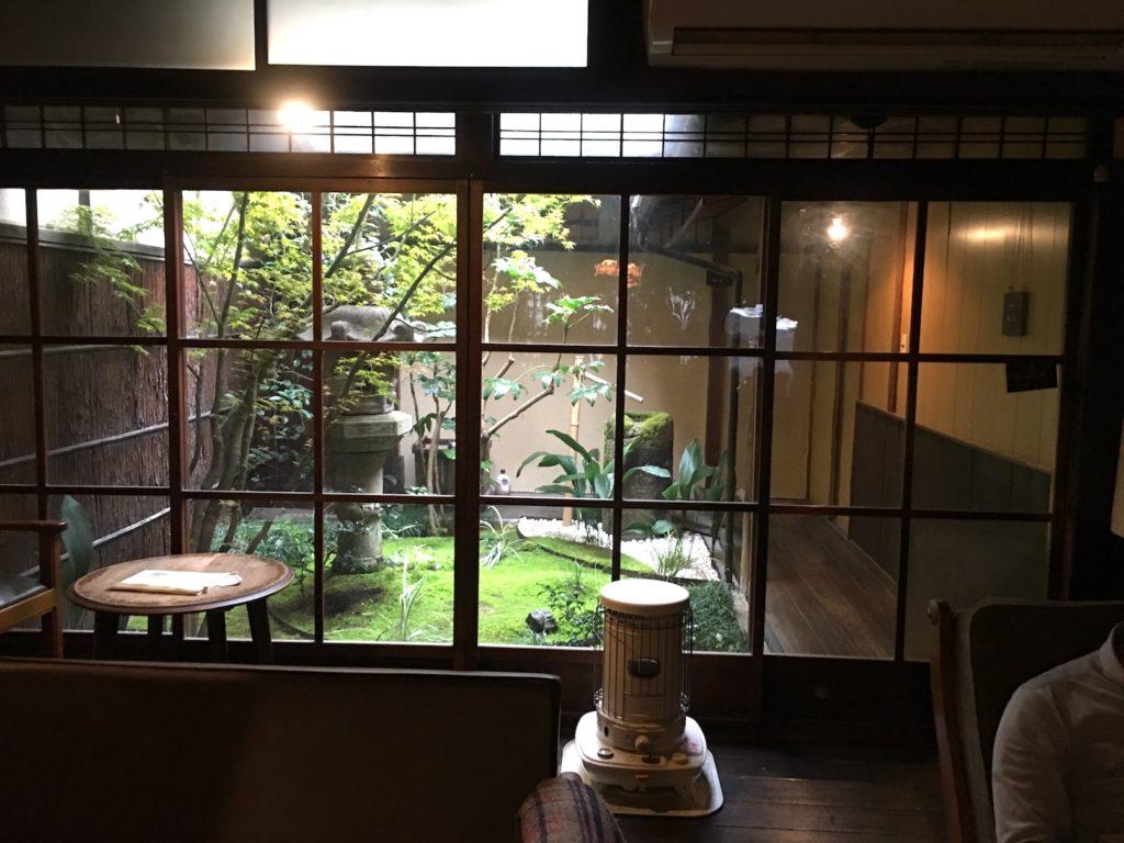 Kyoto Cafe inner garden view