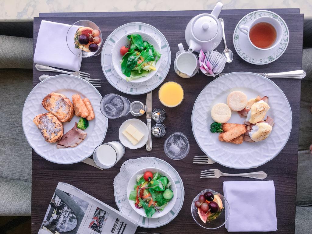 Grand Nikko Hotel Odaiba room service breakfast