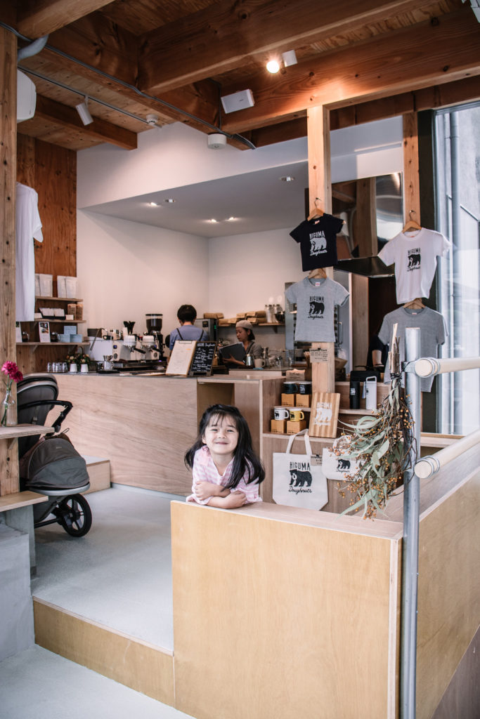 Higuma Donuts coffee shop Omotesando kids