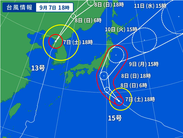 Typhoon coming to Tokyo Sep 2019